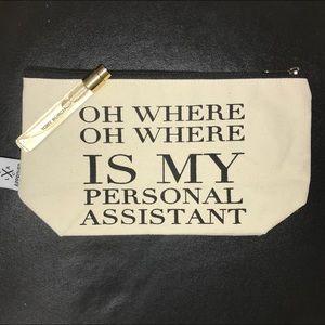 Tory Burch perfume and bag.